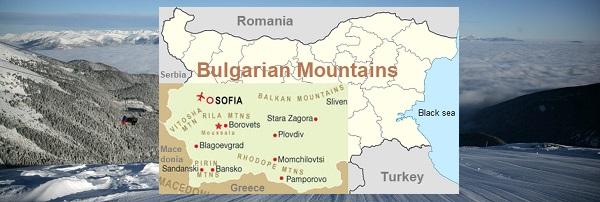 Bulharská lyžařská střediska 2018 - Bulharské hory mapa | Bulgarian ski resorts 2018 - Bulgarian Mountain Map