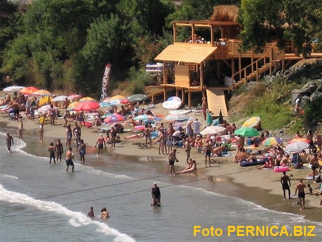 Nová pláž v bulharském Carevu nedaleko přístavu a 200 m od rodinného penzionu U Sněžanky