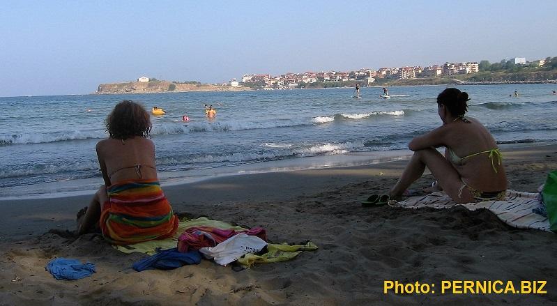 Nová písečná pláž v Carevu, asi 200 m od Penzionu U Sněžanky. Foto: PERNICA.BIZ