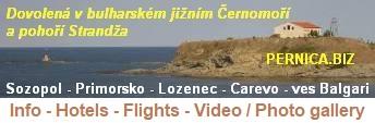 Dovolená v bulharském jižním Černomoří a pohoří Strandža - Carevo, Sozopol, Primorsko, Lozenec, Achtopol, Sinemorec, Rezovo. Info, počasí, letenky, ubytování, video, foto, webkamery.