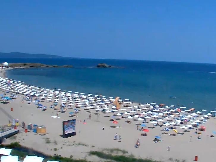 Bulharsko/Carevo - Webkamera: Pohled živě na část zátoky v Lozenci poblíž Careva - Bulgaria/Tsarevo - Webcam Live: Lozenets near Tsarevo - Tsentral Beach