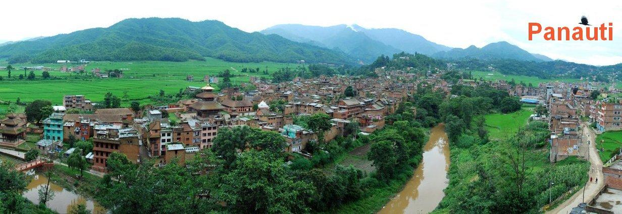 Panorama obce Panauti v Nepálu. Foto: Sanjeev Kumar Shrestha