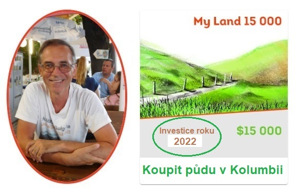My Trees profil + foto. Zdeněk Pernica/My Land 15 000 USD. Koupit půdu v Kolumbii. Investice roku 2021.