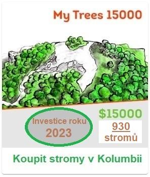 Investice roku 2021 – My Trees 15000 (investiční balíček). 15 000 USD/930 stromů. Koupit