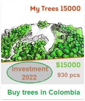 My Trees 15000 (investment package). $15,000 / 930 trees. Buy