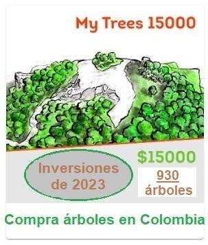 My Trees Investment 15000 (paquete de inversión). $ 15,000 / 930 árboles.