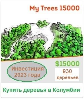 My Trees 15000 (инвестиционный пакет). $ 15 000/930 деревьев. Купить