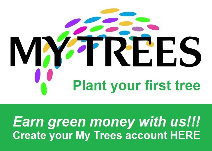 My Trees - Plant your first tree and earn green money with us! Create your My Trees account here.