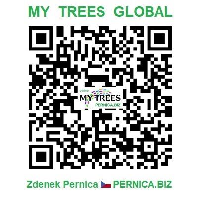 Progetto My Trees Global - Codice QR / Registrazione e accesso / Zdenek Pernica / PERNICA.BIZ / Repubblica Ceca / Europa