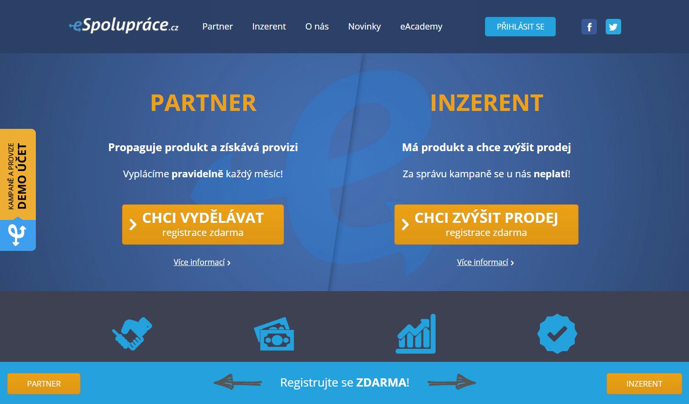 Staňte se zdarma součástí úspěšné affiliate sítě eSpolupráce.cz