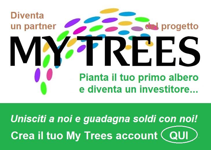 Diventa un partner del progetto My Trees Global - Pianta il tuo primo albero e diventa denaro con noi! Crea qui il tuo account I miei alberi