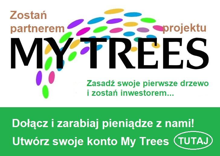 Zostań partnerem projektu My Trees - Zasadź swoje pierwsze drzewo i zarabiaj razem z nami! Utwórz tutaj swoje konto My Trees