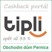 Obchodní dům Pernica – partner cashback portálu Tipli.cz: má 885 partnerských e-shopů (působí též na Slovensku – 520 partnerů, v Polsku – 805 partnerů a brzy i v Rumunsku) a odměny za nákupy až 33 %. Možnost nákupu přes mobilní aplikaci. Vstupní bonus je 100 Kč a odměna za doporučení 150 Kč. Cashback portál Tipli nabízí rovněž věrnostní program, kupóny na slevy a hromadné slevy (cashback + slevový portál).